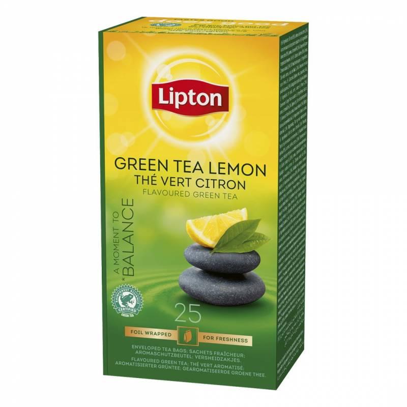 Te Lipton Grøn te Lemon 25breve/pak