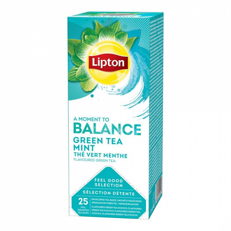 Image of   Te Lipton Green Tea Mint 25breve/pak
