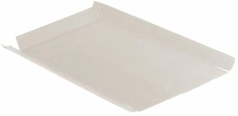 Bølgepergament hvid 500x640mm åben bølge