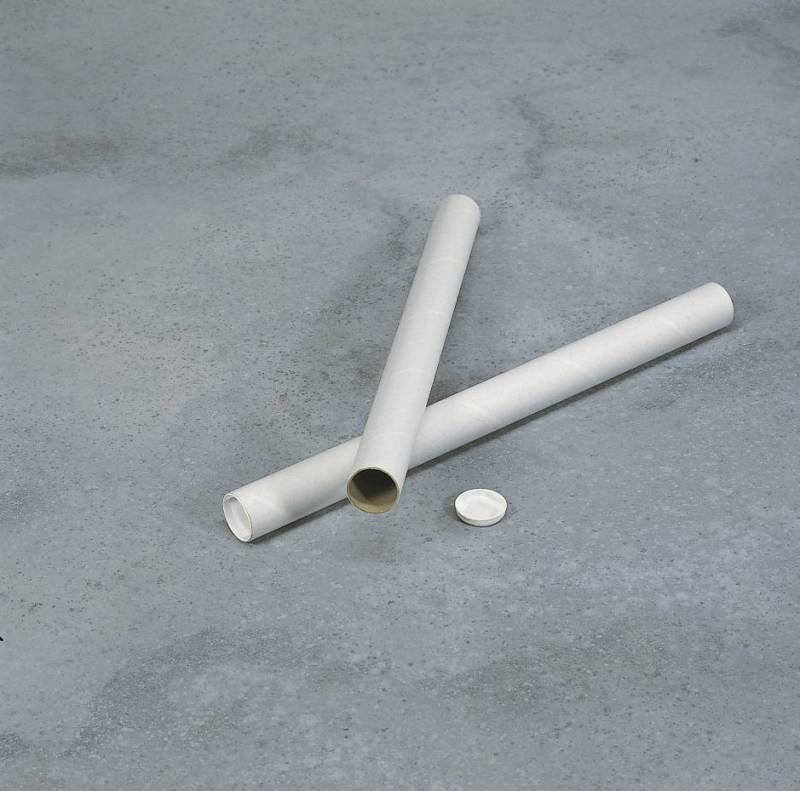 Paprør hvid m/låg Ø50x2x500mm