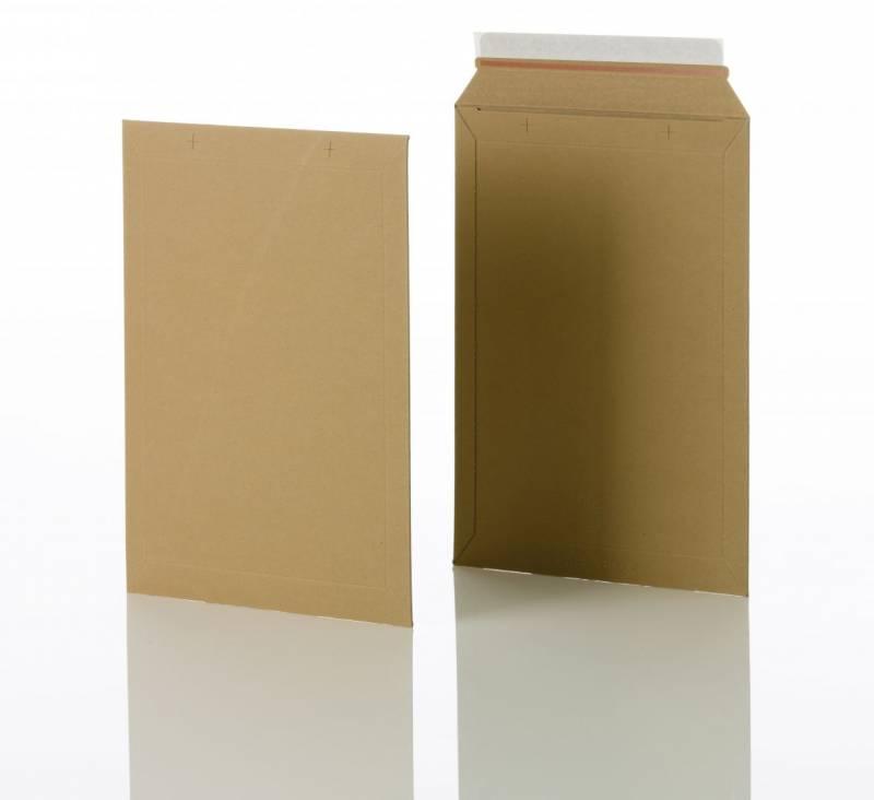 Billede af Konvolut kartonpose 4 t/A4 248x350mm brun 100stk/pak
