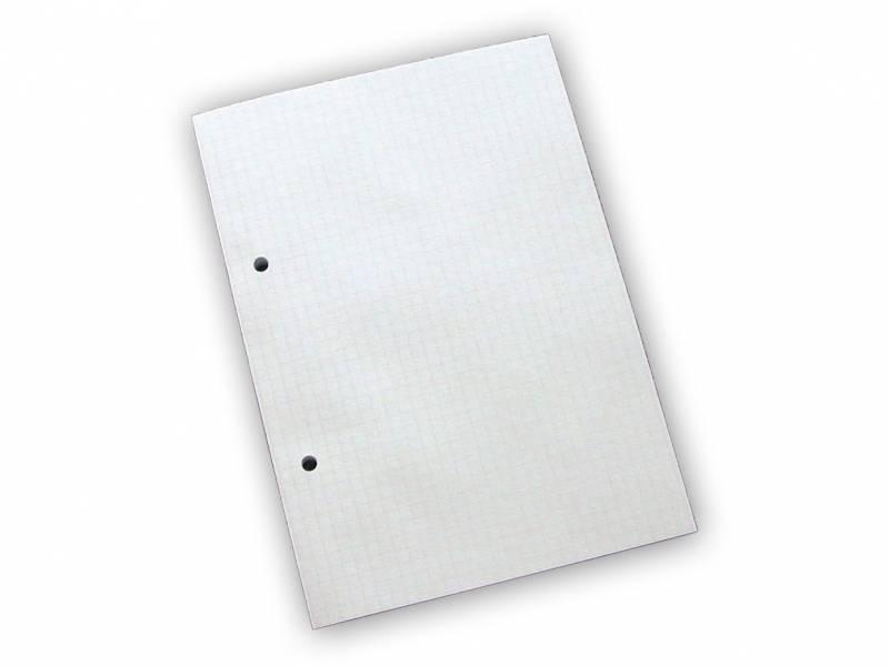 Billede af Standardblok 2 huller kvadr. 60g hvid A5