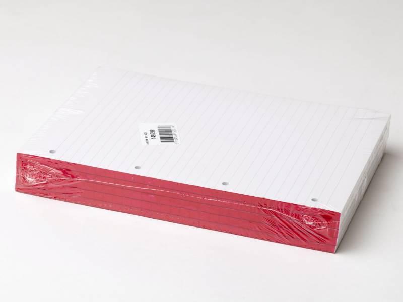 Billede af Standardblok 4 huller lin. 60g hvid A4