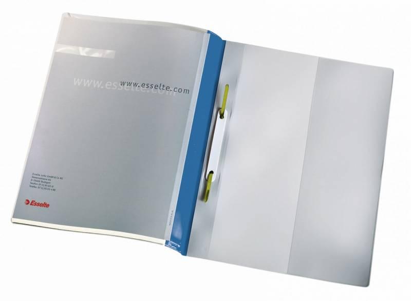 Image of   Tilbudsmappe Esselte m/lomme + dobb. forside blå