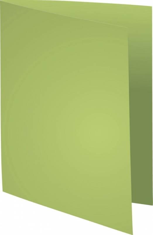 Image of   Kartonmapper uden klapper A4 220ggrøn