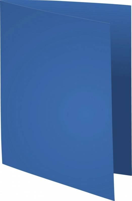 Image of   Kartonmapper uden klapper A4 blå 220g