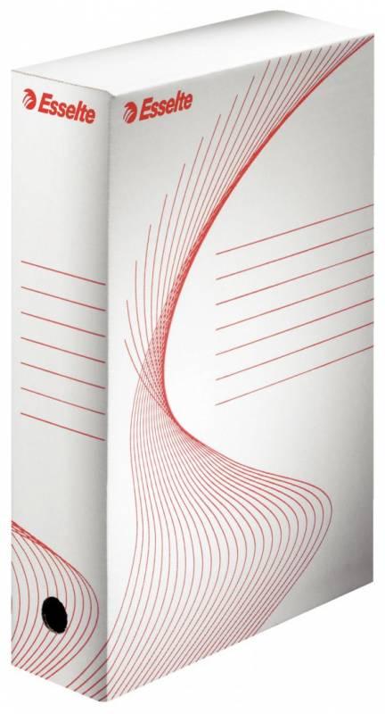 Image of   Arkivæske Esselte hvid 100 mm karton