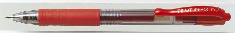 Gelpen Pilot rød 0,7mm BL-G2-7. Stregbr.0,4mm