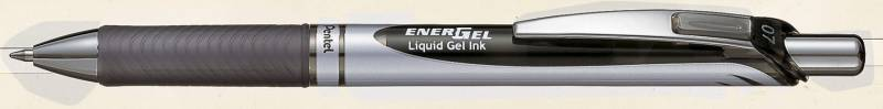 Image of   Rollerpen Pentel EnerGel sort 0,7mm BL77-A