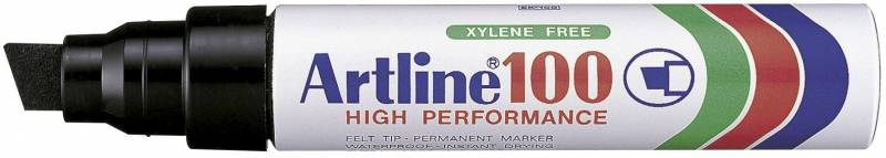 Marker Artline 100 permanent sort 7-12mm