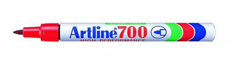 Image of   Marker Artline 700 permanent rød 0,7mm
