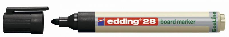 Whiteboardmarker edding 28 EcoLine sort 1,5-3mm