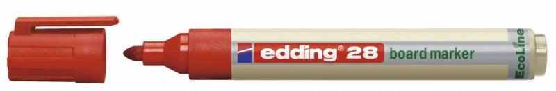 Whiteboardmarker edding 28 EcoLine rød 1,5-3mm