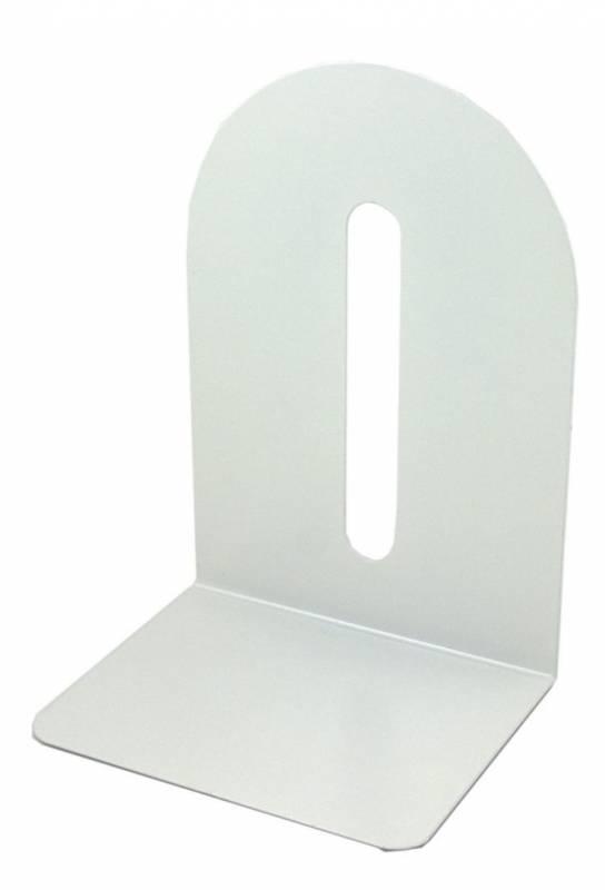 Bogstøtte metal hvid 20cm