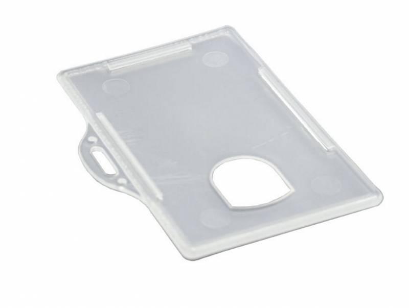 Image of   ID-kort-holder liggende plast transp