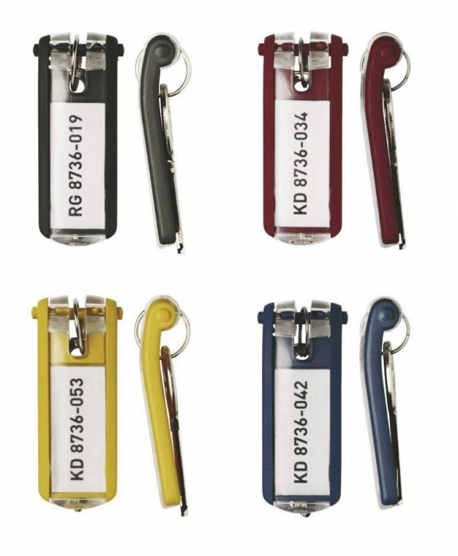 Image of   Nøgleskilte til Durable Keybox ass. farver 65x25mm