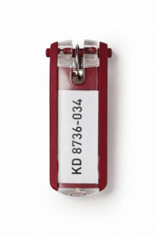 Image of   Nøgleskilte til Durable Keybox rød 65x25mm