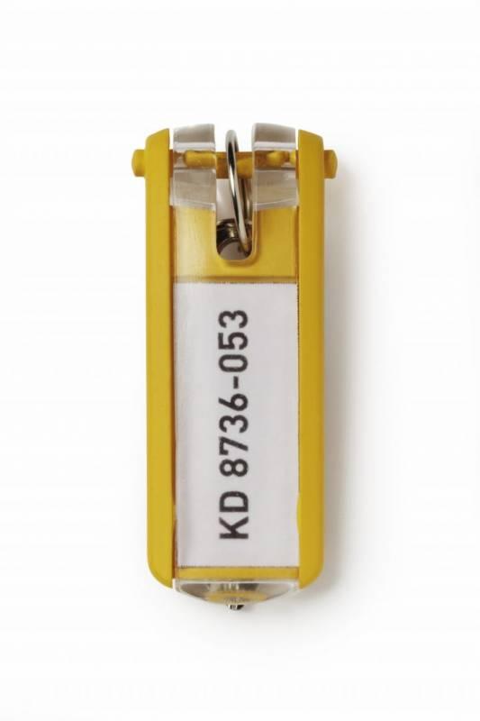 Image of   Nøgleskilte til Durable Keybox gul 65x25mm