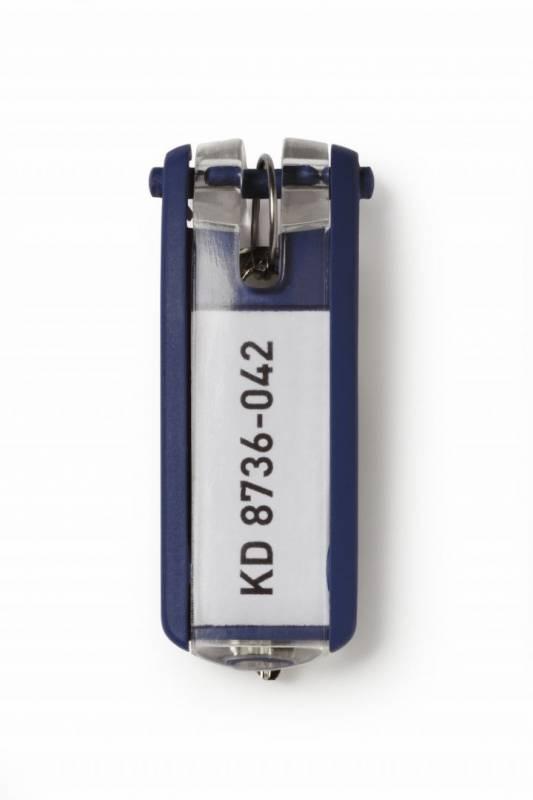 Image of   Nøgleskilte til Durable Keybox mørk blå 65x25mm