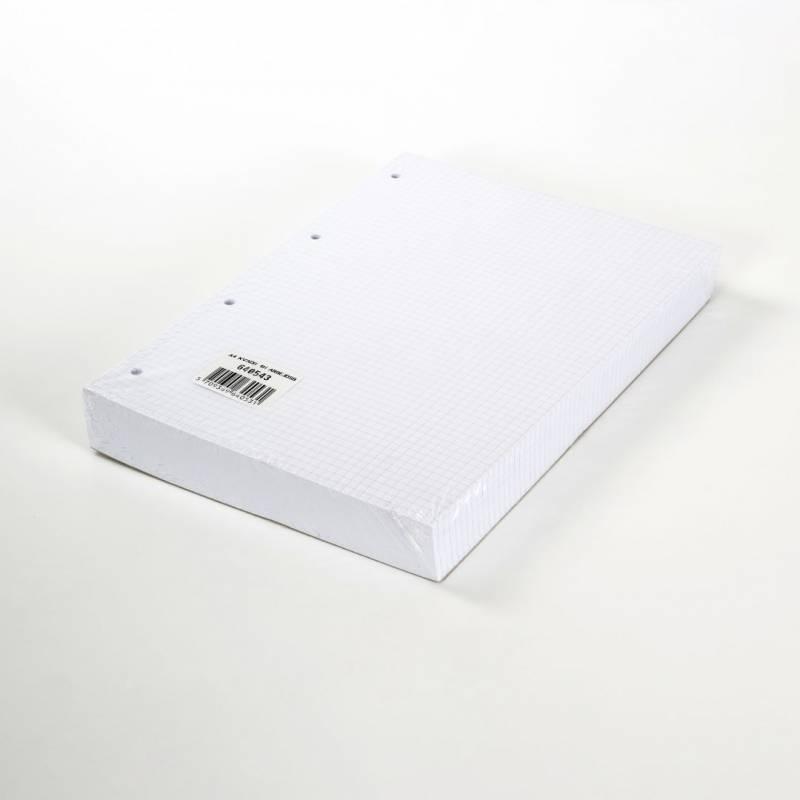 Arbejdsblade A4 5mm kvadr. m/4 huller