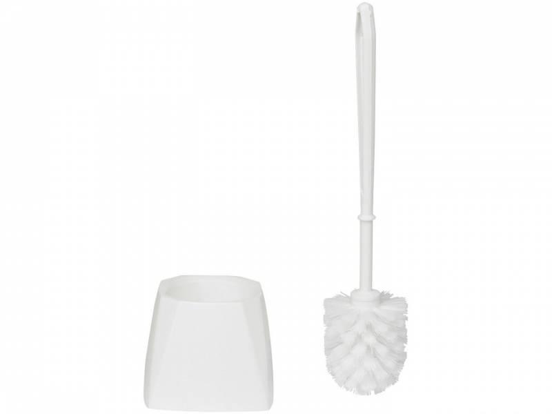 Billede af Toiletbørste m/skål hvid Vikan 5045
