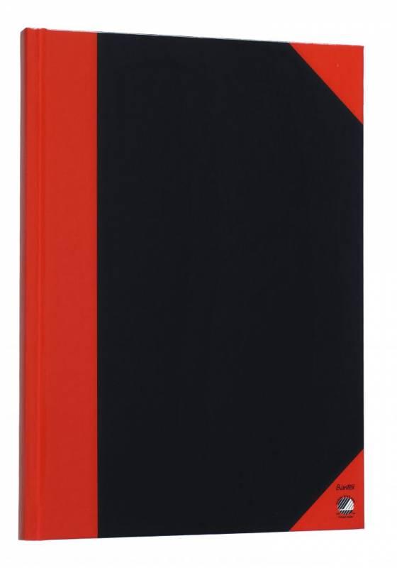 Image of   Kinabog m/linier 96bl sort m/røde hjørner A6