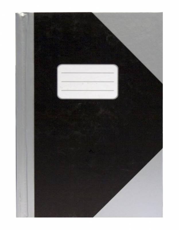 Image of   Kinabog linjeret sølv/sort A5 m.etiket 78bl