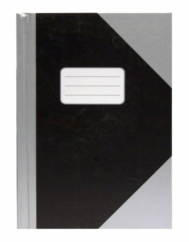Image of   Kinabog linjeret sølv/sort A6 m.etiket 78bl