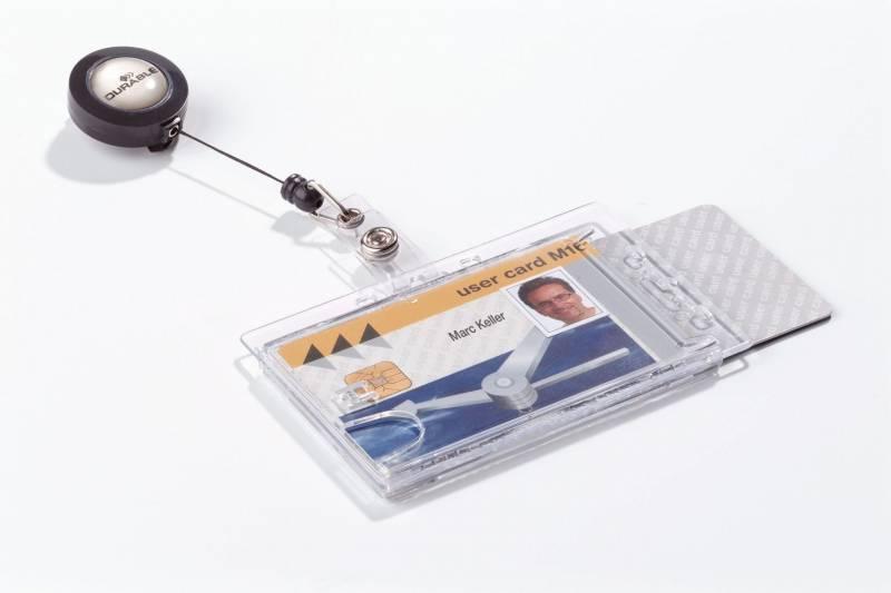 Billede af ID-kort-holder til 2 stk kort 10stk/pak 8224 m/badge reel