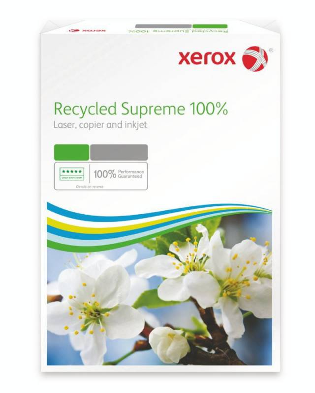 Image of   Kopipapir Xerox Recycled 100% Supreme 80g A4 500ark/pak