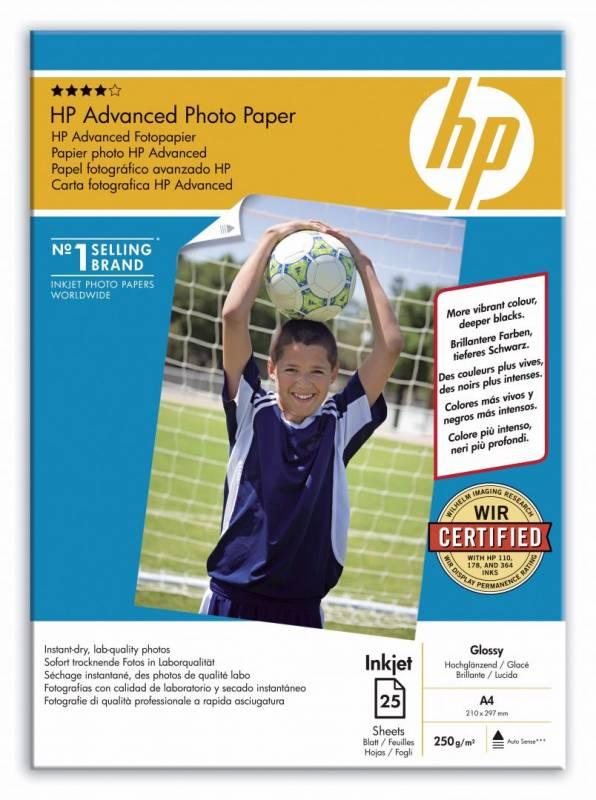 Image of   Fotopapir HP Advanced Glossy Q5456A 25ark/pk A4