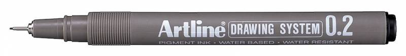 Image of   Drawingpen Artline EK232 0,2mm sort