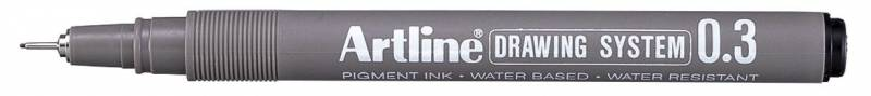 Image of   Drawingpen Artline EK233 0,3mm sort