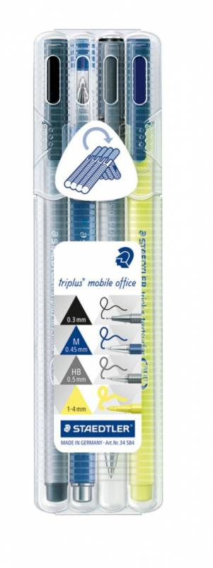 Image of   Marker STAEDTLER Triplus Mobile Office ass. 4stk