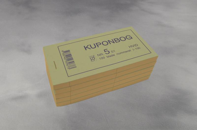 Image of   Kuponbøger hvid 2x1-100 130x70mm