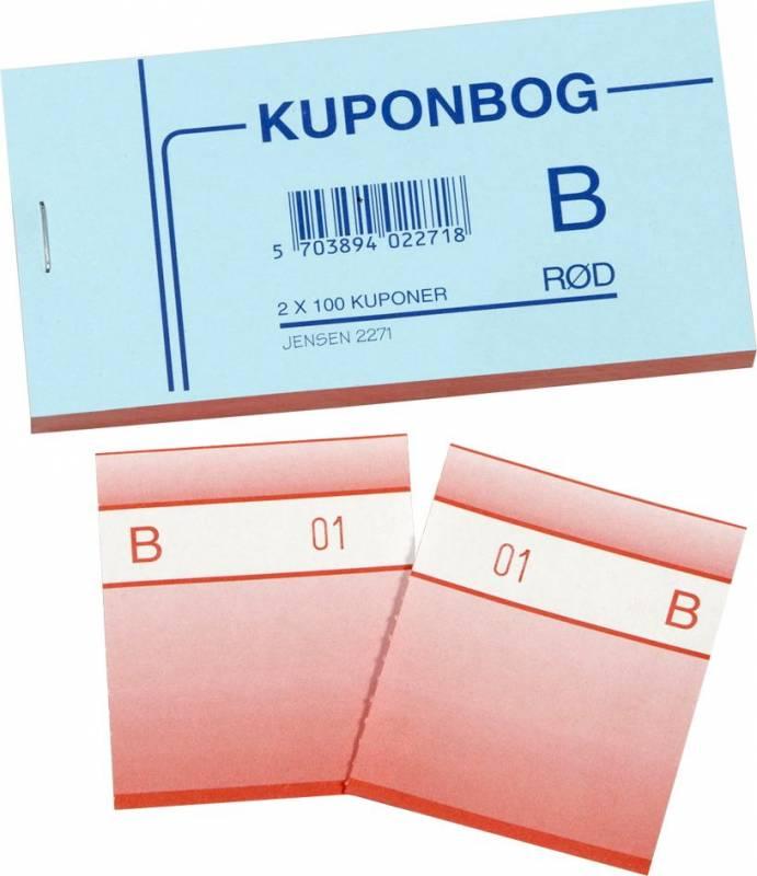 Billede af Kuponbøger rød 2x1-100 130x70mm