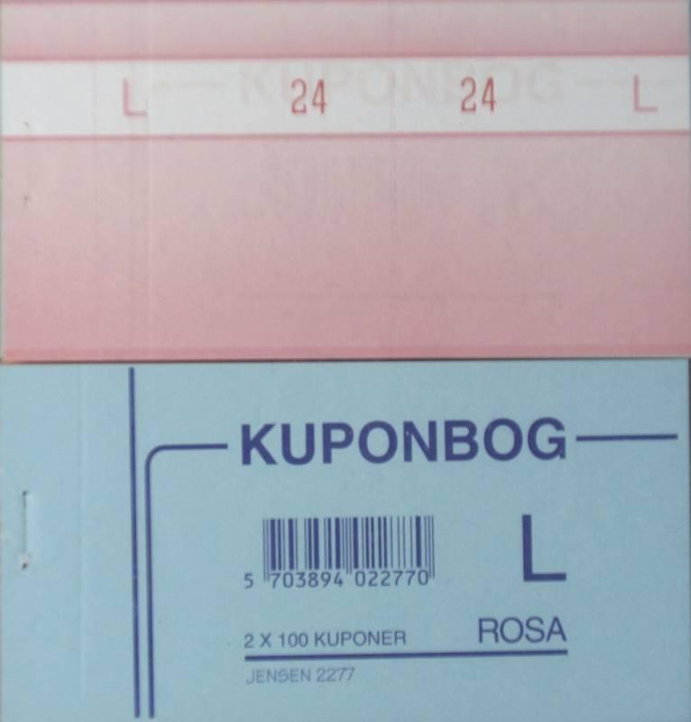 Billede af Kuponbøger rosa 2x1-100 130x70mm