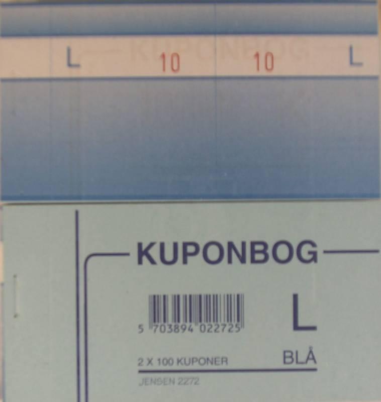 Billede af Kuponbøger blå 2x1-100 130x70mm