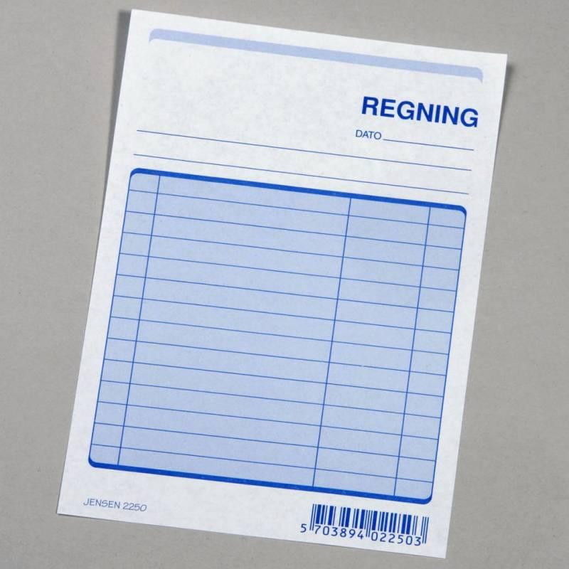 Image of   Regning 2250 toplimet 148x105mm 100 bl