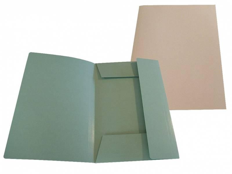 Image of   Mappe 125 A4 dokument karton 250 g m/3 klapper grøn