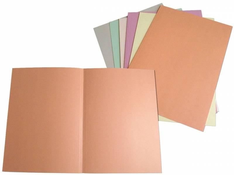 Image of   Omslag 300 A4 u/klap 250 g karton grå
