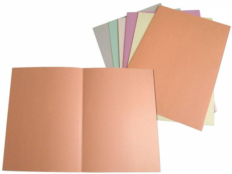 Image of   Omslag 300 A4 u/klap 250 g karton rosa
