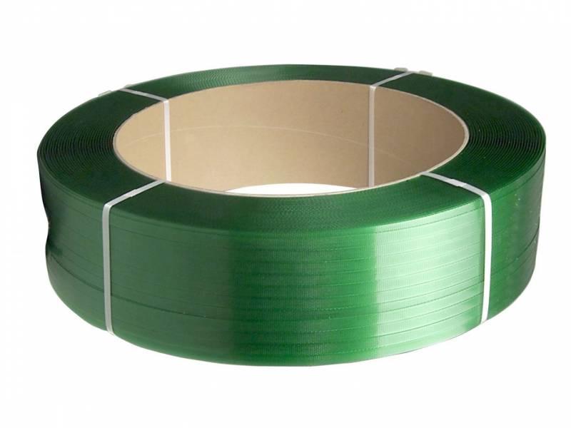 Strapbånd PET grøn 12x0,50mm ø406mm 3000m 257kg træk