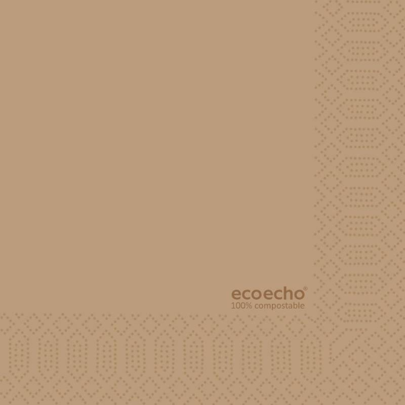 Image of   Serviet 3-lags 1/4 fold Eco brun 33cm 250stk/pak