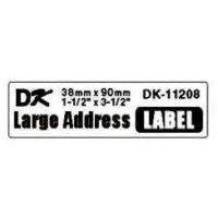 Image of   Label Brother hvid DK11208 38x90mm adresse 400stk/rul