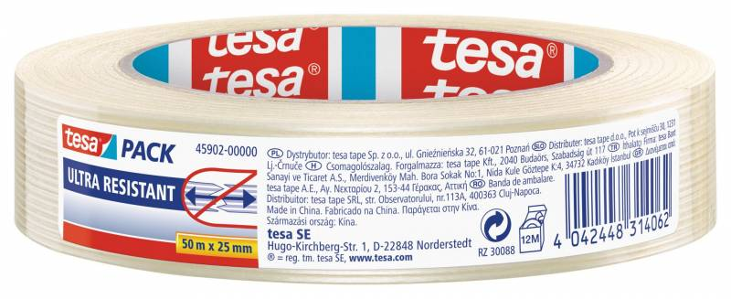 Image of   Tape filament tesa 45902 25mmx50m semitransparent