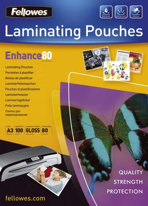 Billede af Lamineringslommer 80 mic. 303x426mm 100stk/pak A3