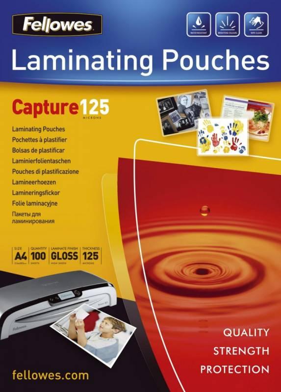 Billede af Lamineringslommer 125 mic A4 216x303mm 100stk/pak glossy