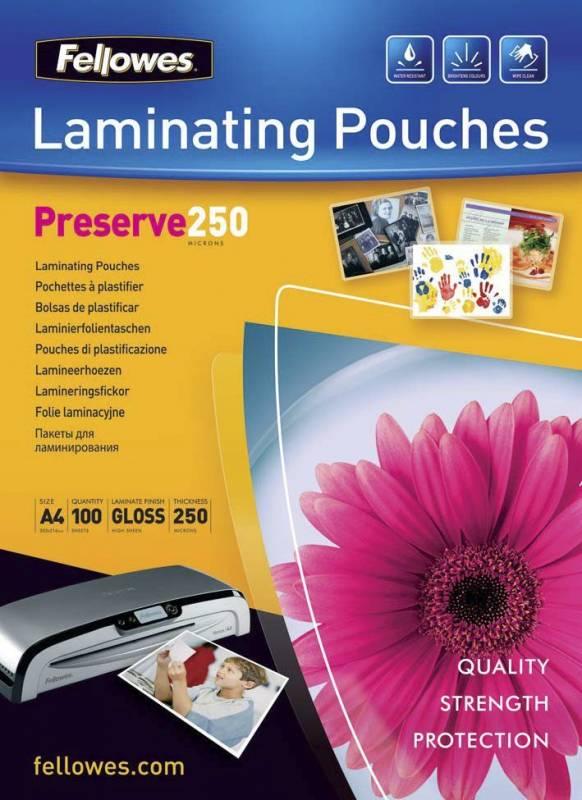 Billede af Lamineringslommer 250 mic. 216x303mm 100stk/pak A4