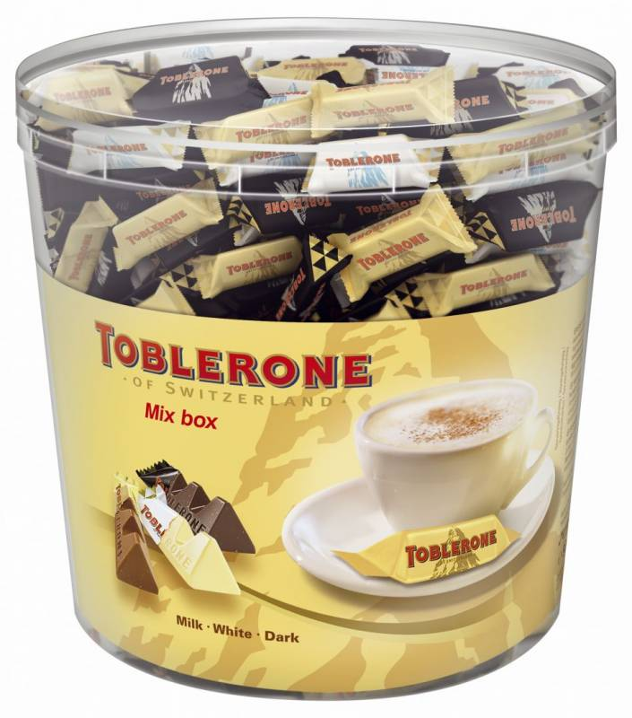 Image of   Chokolade Toblerone Tiny Mix Box med 904 gram/113 stk.